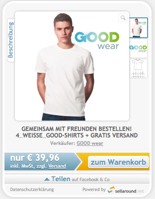 Herren-T-Shirt-sellaround-aktion