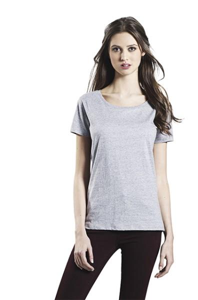 White Marl, Special Yarn Effect, Classic T-Shirt Women
