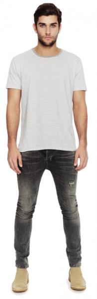 Gestreiftes Jersey T-Shirt